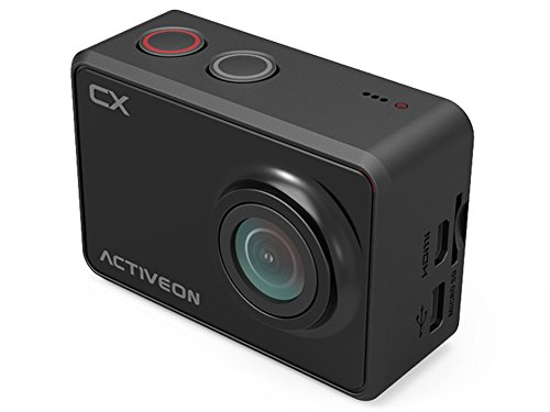 Cámara de acción Deportiva CX ACTIVEON CX - 5Mp, 1080p 30fps, WiFi, Sumergible 60 Metros, Pantalla 2