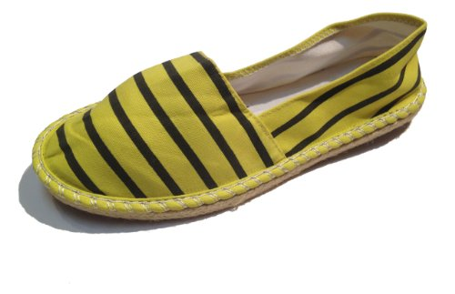Shoes On Slip Espadrilles Assorted Alpargatas Striped Yellow Colors Deck Spanish Canvas wqYIBO