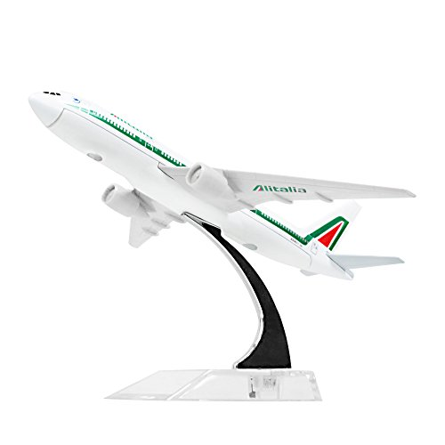 Diecast Airplne 1:400 Alitalia B777 Metal 6.3inches(16cm) Plane Model Office Decoration or Gift by LESES