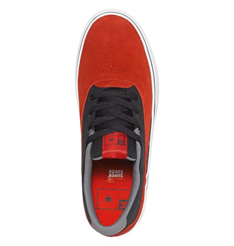 DC SULTAN S SHOES COLORE RED W/BLACK
