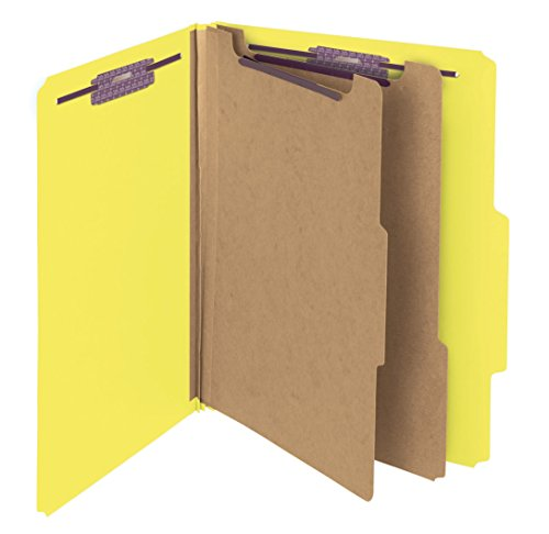 Divider 2 Pressboard (Smead PressGuard Classification File Folder with SafeSHIELD Fasteners, 2 Dividers, 2
