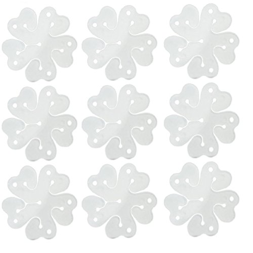 baotongle 50 pcs Portable Flower Shape Balloon Clips Holder for Wedding Event Decorations Birthday Party -