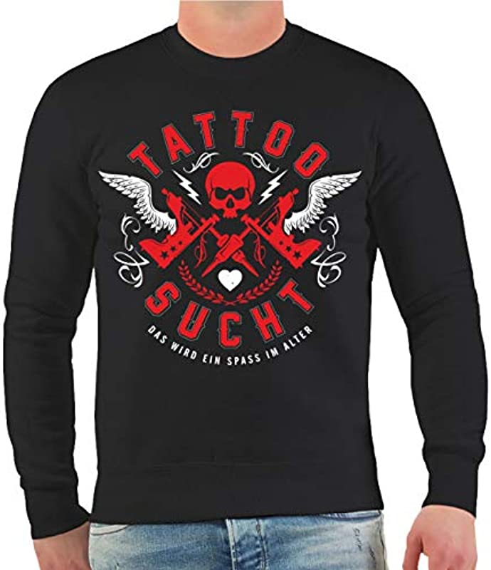 Mężczyźni i męska bluza tatuaż odnajduje się zabawa w wieku (z oparciem ciśnienie) Rozmiar S – 10 X L: Odzież