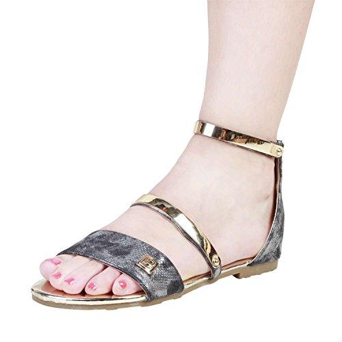 Unbekannt - Sandalias de vestir para mujer gris gris