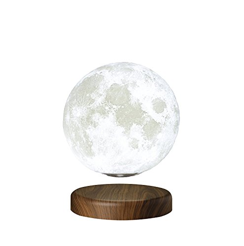 Rotating 3d Printed Lunar Lamp Floating Lunar Table Lamp Wireless Moon Lamp for Home and Office Decor Levitating Moon Lamp LED Moon Lamp Moon Lamp with Touch Control