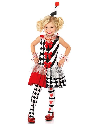 Harlequin Clown Child Costume - (Harlequin Clown Adult Costumes)