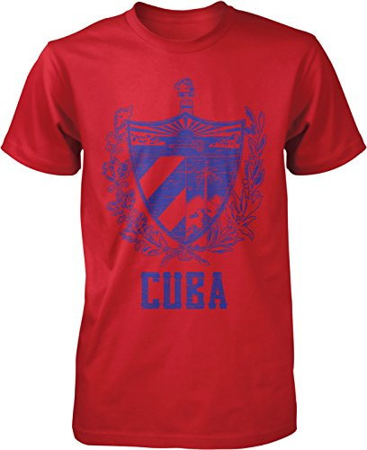 Hoodteez Cuba Coat of Arms, Phrygian Cap Men's T-Shirt, XXXL Red