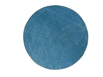 Moderner shaggy teppich tampa blau türkis uni einfarbig kuschelig
