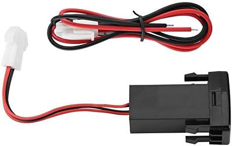 Gorgeri トヨタ用USBの音声入力が付いている 車用5V 2.1Aの二重USBインターフェイスソケットの充電器