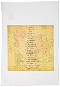 3dRose fl_33730_1 Map of The World Joy Birth Poem Inspirational Poetry Garden Flag, 12 by 18-Inch