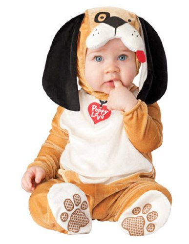 [InCharacter Costumes Baby's Puppy Love Costume, Tan/White/Black, Small] (Halloween Costumes Infant Boy)