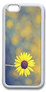 iPhone 6 Cases, Personalized Protective Case for New iPhone 6 Soft TPU White Edge Sunshine Daisy