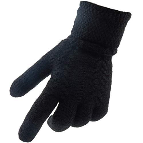 de65b0632e5b Velours ZXW épaississement extérieure Black pour Chauds Hommes Gants  Version Couleur d équitation Coupe Fashion Plus Gants Laine ...
