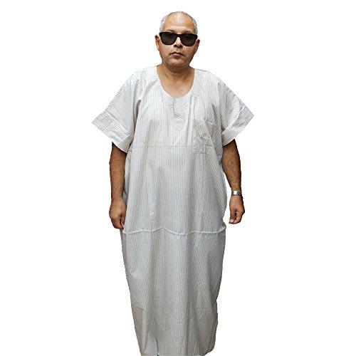gruesas personas la sisa egipcio 85 cm para 155 comodidad Chilaba la Mide hombre buscan que y Ideal algodón cm de largo qwqpafBx
