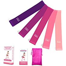 Exercise Bands for Legs and Butt Resistance Bands Set of 5 with Instruction Guide Carry Bag,Workout Bands for Women Men