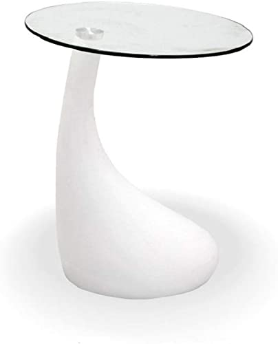 Fab Glass and Mirror Teardrop Side Table