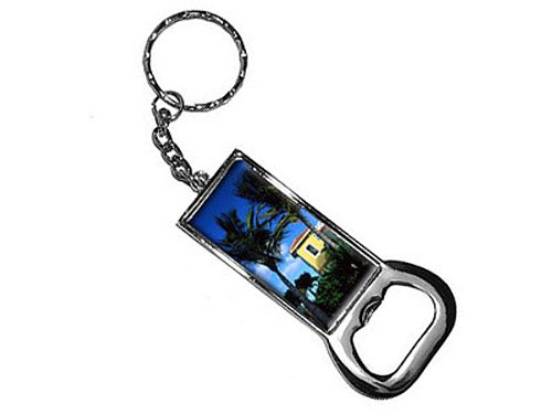 Graphics and More Ring Bottlecap Opener Key Chain, Tropic...