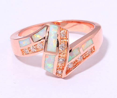 Cubic Size Created For 6 Gold Jewelry Opal Women 10 Gift Yukfgh Ring Color Fire 5 Oj7959 Rose Zirconia White PY6A1qw1C