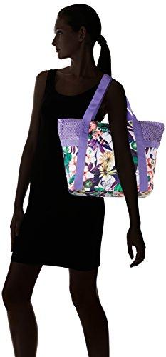 Desigual BOLS_L Shopping, Borse a Tracolla Donna, Viola (3168 Purple Opulence), 13 x 34 x 45 cm (B x H x T)