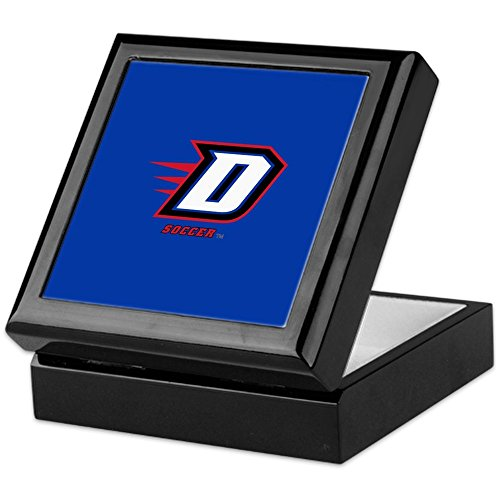 CafePress - DePaul D Soccer - Keepsake Box, Finished Hardwood Jewelry Box, Velvet Lined Memento Box