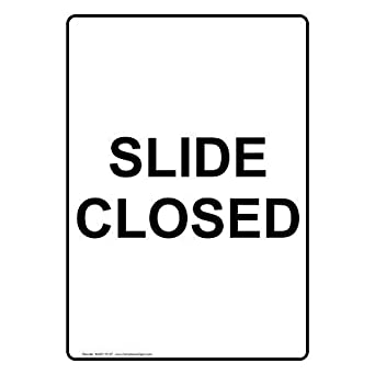 Amazon com: Vertical Slide Closed Sign with English Text Safety