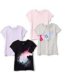Girls' 4-Pack Short-Sleeve T-Shirts
