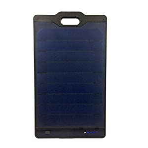 Solar Power Charger Portable Panel Universal Dual USB Ports & Micro USB External Battery Pack Power Bank 8,000 mAh Novobeam for Cell Phones, Tablets, ideal for Outdoor, Hiking, Camping Instapark