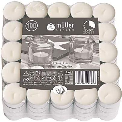 Tealights Blancas, 100 Unidades: Amazon.es: Hogar