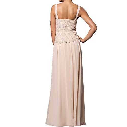 H.S.D Mother of the Bride Dress Chiffon Long Formal Gowns with Jacket Champagne 16W