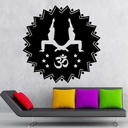 Yoga Club Sticke Tai Chi Decal Posters OM Vinyl Wall Decals ...