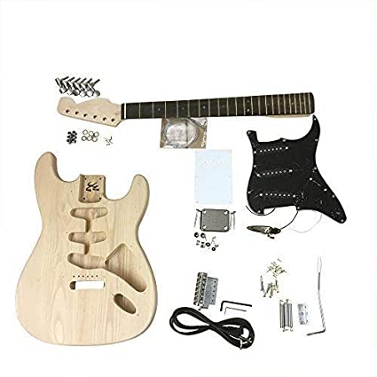 GD4401 Coban Guitars Diestros Fresno Guitarra Eléctrica Kit construcción para estudiante & Luthier Proyectos - Negro