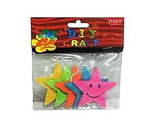 Sarvah Diy Art & Craft 5 Pcs Star Sticker - 3 Pack