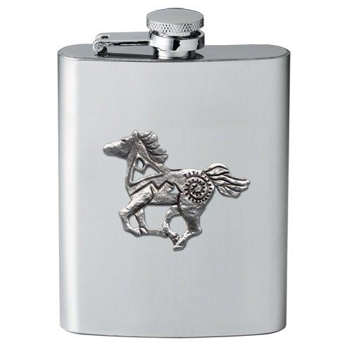 1pc, Pewter Pony Fetish Flask