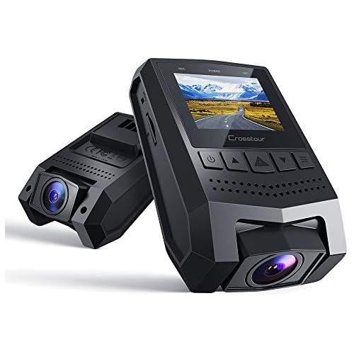 chollos oferta descuentos barato Crosstour Dash Cam 1080P FHD Mini grabadora de cámara de salpicadero con pantalla LCD de 1 5 de ángulo amplio 170 modo de aparcamiento detección de movimiento sensor G grabación de bucle y WDR