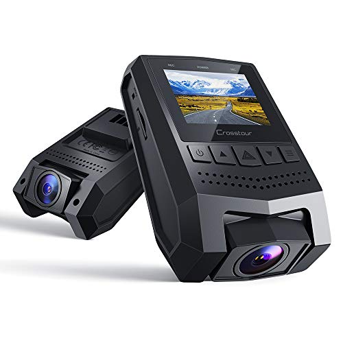 "Crosstour Dash Cam 1080P FHD Mini Dashboard Camera Recorder with 1.5"" LCD Screen 170°Wide Angle, Parking Mode, Motion Detection, G-Sensor, Loop-Recording and WDR"