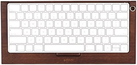 Keyboard Stand Bamboo Holder SAMDI Bluetooth Wireless Dock iMac Computer Khaki