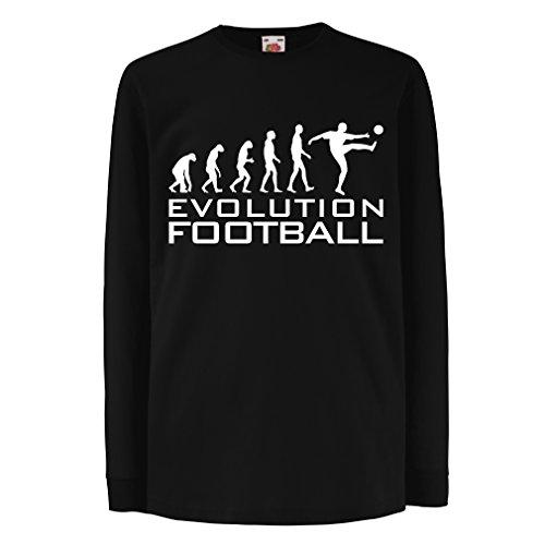 Kids Boys/Girls T-Shirt The Evolution of Football - World Cup Soccer Team Fan Shirt, Russia Championship 2018 (7-8 Years Black White)