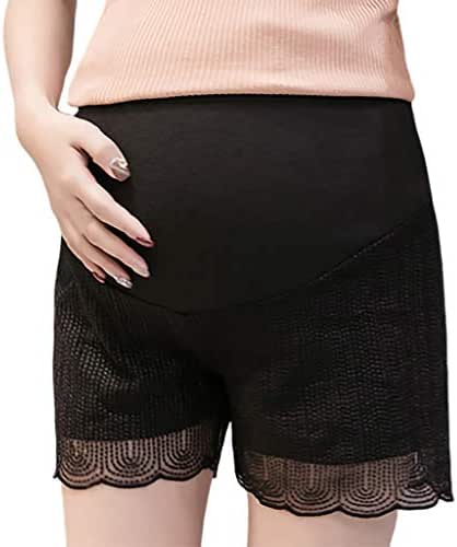 LUXISDE Summer Stretch Wear Pregnant Women Lace Safety Shorts Maternity Shorts