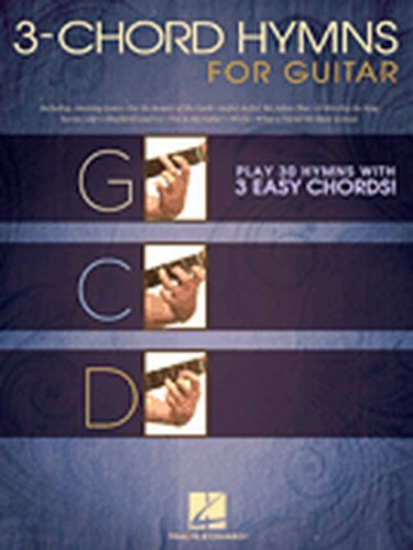 Hal Leonard 3-Chord Hymns For Guitar - Play 30 Hymns With 3 Easy Chords guitar songbook (For The Beauty Of The Earth Chords)