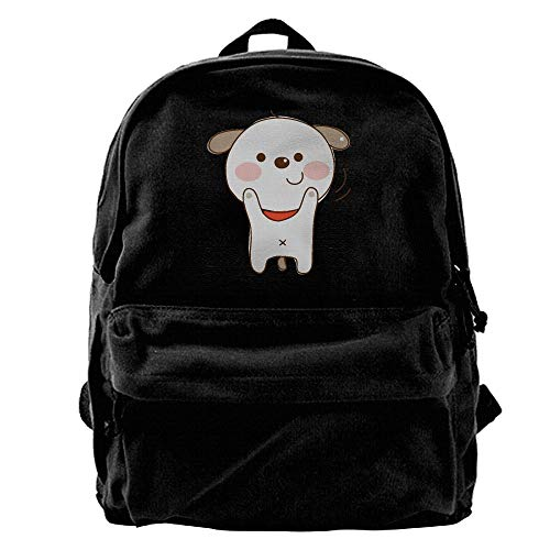Aiguancartoon Dog Specially Black Canvas Backpack for sale  Delivered anywhere in USA