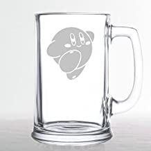 Kirby's Adventure - Kirby - Etched Beer Mug