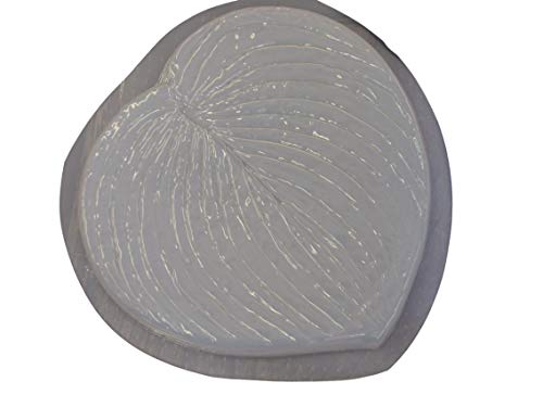 Hosta Leaf Concrete Plaster Stepping Stone Mold 1197