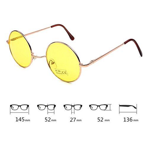 Vacaciones Redondas Viajar Príncipe Cool Tendencia Para 400 De Eyewear C4 Brillantes Sol UV Lindo Gafas De Conducir Gafas Unisex Grandes Protección 7UqxS