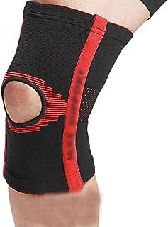 Rembourrages genoux Genouillères exercice fitness haute élastiques anti-dérapant genouillères anti-blessures chaudes anti-dérapant respirant genouillères équipement de protection extérieure 2 Pack