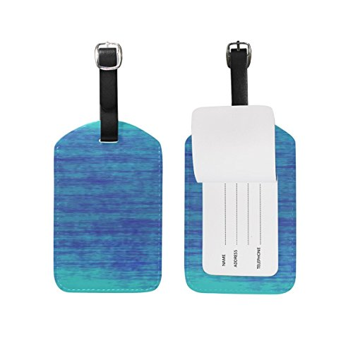 Texture Art Artistic Blue Painted Pattern Luggage ID Tags Tr