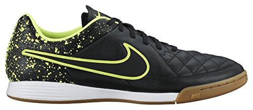 Nike De Chaussures Ic Leather Homme Tiempo Genio volt noir Vert Noir Football Black rqaxfr