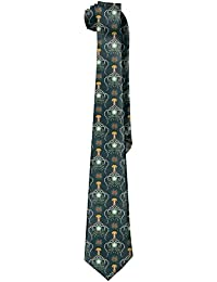 Men Fish Print Jellyfish Soft Tie Necktie
