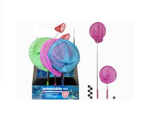Extendable Childs Fishing Net PINK HL411 From 38cm to 87cm