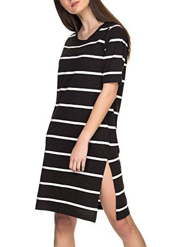 Black Dress Cotton Women's Striped Wistle Organic Women's Ichi Black w1Bvz8Bq