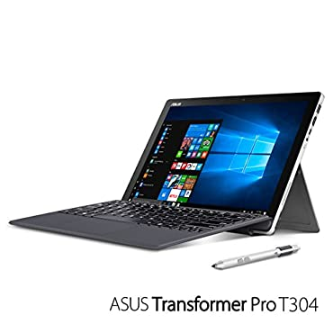 """ASUS Transformer Pro T304UA-DS71T, 2-in-1 Touchscreen 12.6"""" Laptop, Intel Core i7 2.7GHz (Turbo up to 3.5GHz), 256GB SSD, 8GB RAM, USB Type-C, pen and illuminated keyboard included"""
